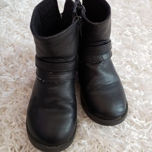 Toddler Black Boots
